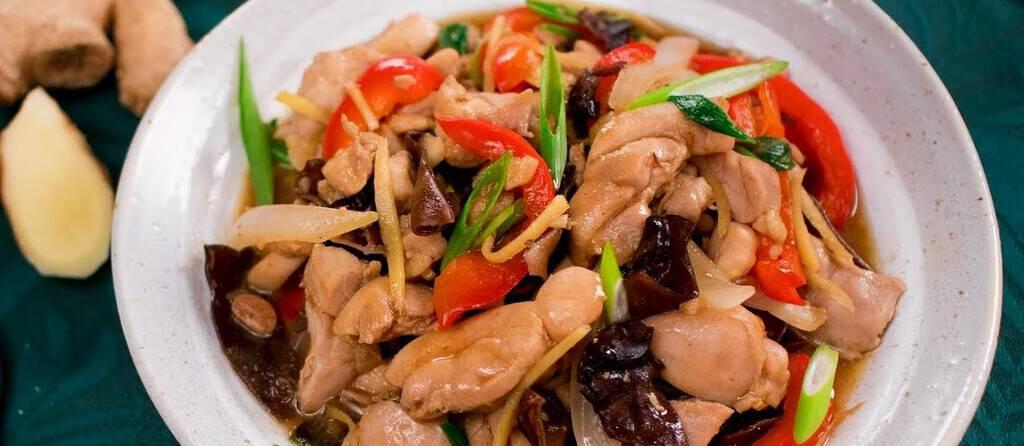 Thai Ginger Chicken recipe - Pad Gai King