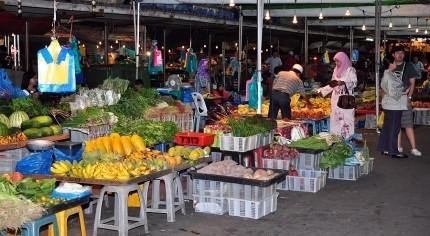 Brunei Food Recipes -Fresh produce market, Bandar Seri Begawan