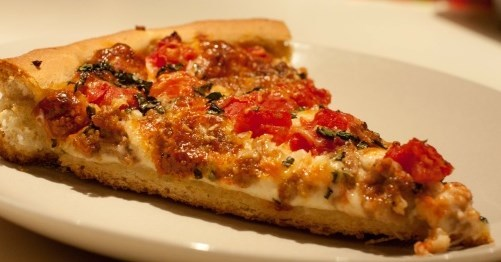 Pizza Uno�s Deep Pan Chicago Style Pizza