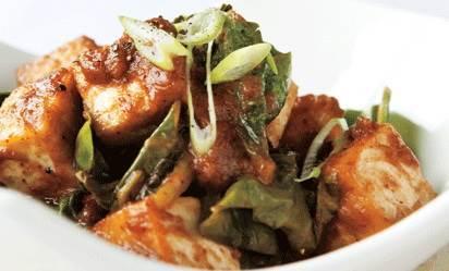 Pebta Kha-o - Tofu & Turnip Saute