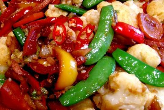 Burmese Vegetables with Peppers