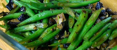 Chinese Vegetarian Recipes: Green beans in Black Bean sauce