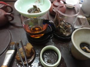 Preparing Chinese Tea