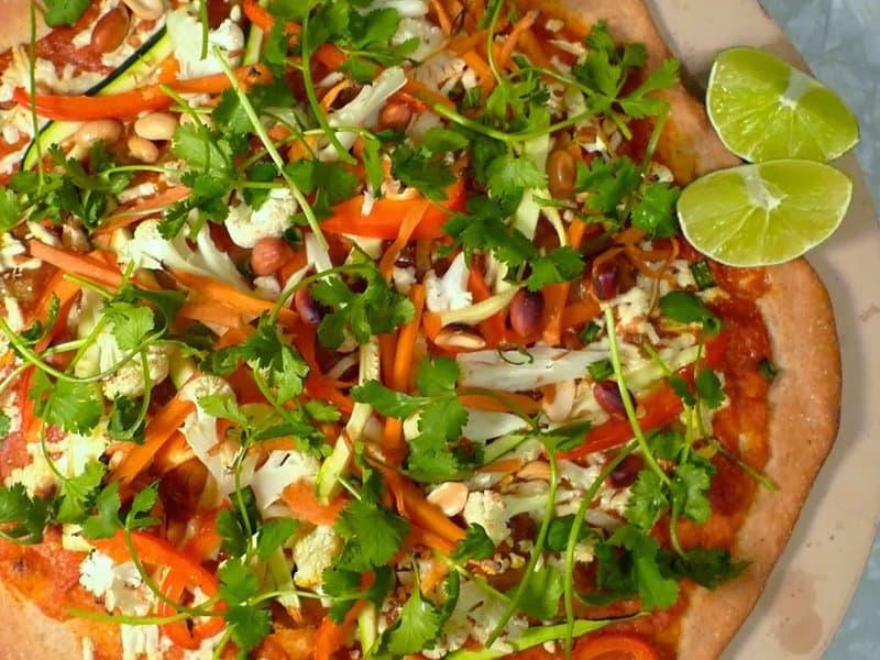 vegetarian Thai pizza