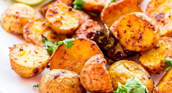 Bengali-Style Oven-Fried Potatoes