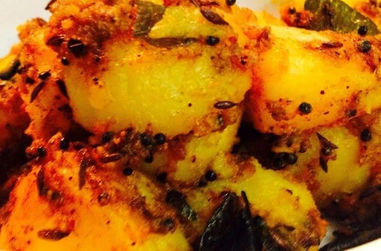 Dry Potatoes - Sukha Aloo