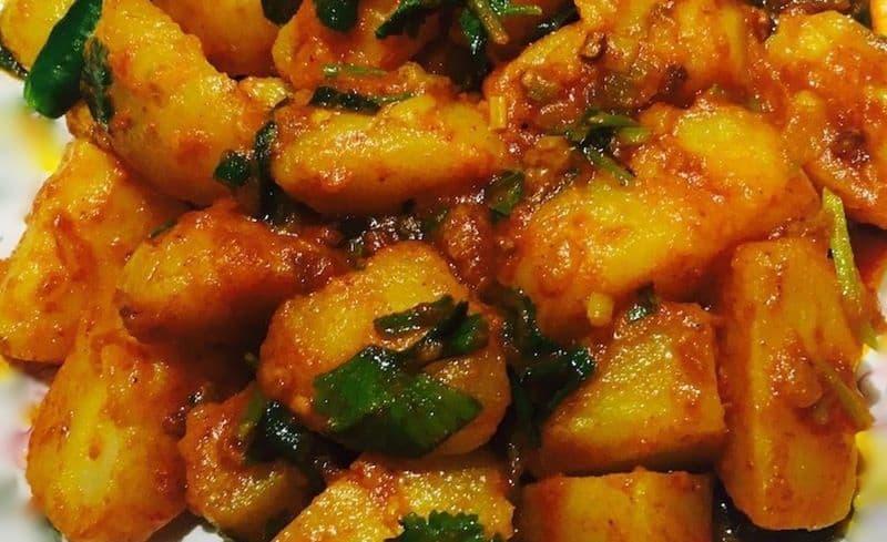 Pickled Potatoes (Aloo Acchar)