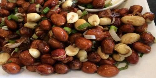 Mongolian fried peanuts recipe