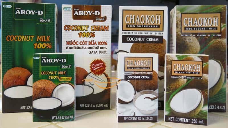 Thai coconut milk & cream