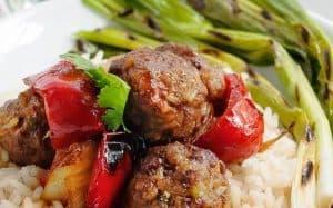 Mongolian Lamb Meatballs & Spicy Sauce