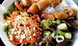 Bun Cha - Rice Vermicelli & Pork Meatballs
