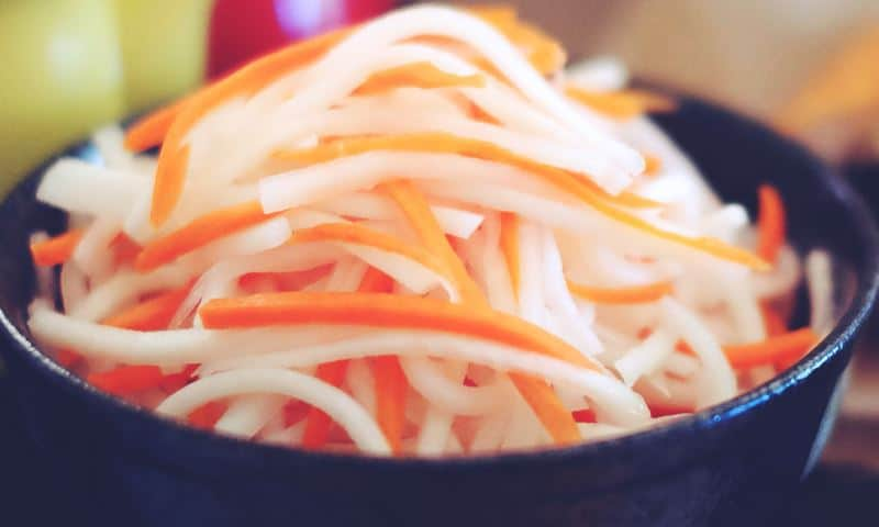 Namasu - daikon carrots pickled salad