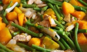 Pork Ginataan with Squash & String Beans
