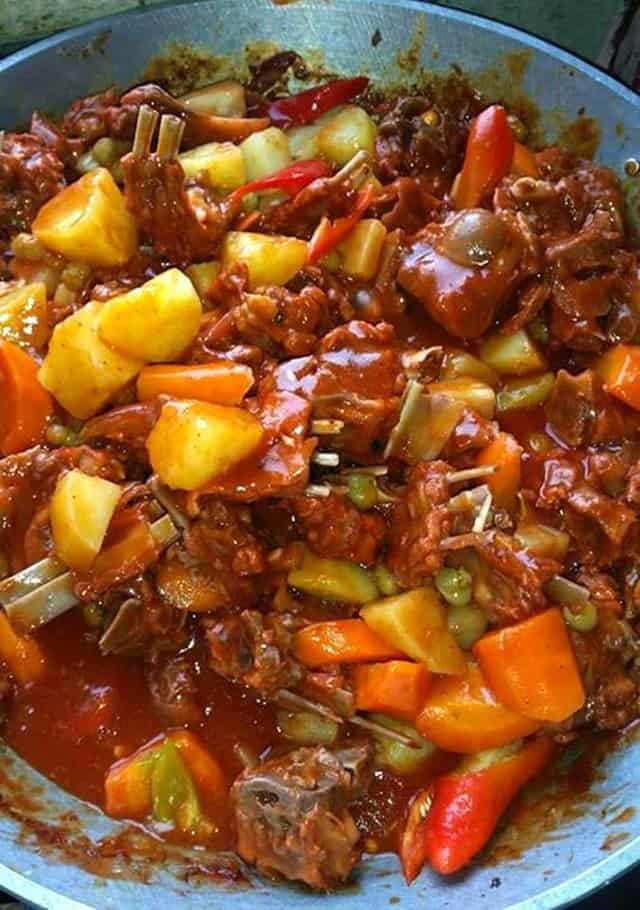 How To Cook Kalderetang Kambing: Goat Stew