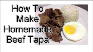 Homemade Beef Tapa