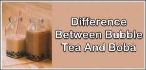 Bubble Tea vs Boba