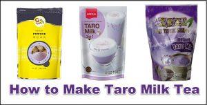 How to Make Taro Milk Tea